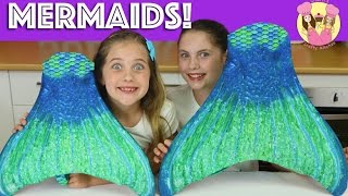Download FIN FUN MERMAID HAUL! We turn into the little mermaid & swim in our pool - kid toy review Video