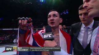 Download UFC 212: Max Holloway Octagon Interview Video