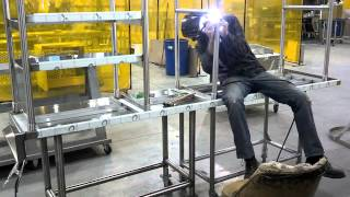 Download time lapse: stainless table construction. Video