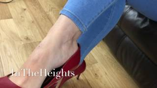 Download Red Heels Dangling with Feet Video
