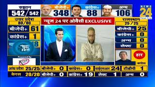Download News 24 पर Owaisi Exclusive Video