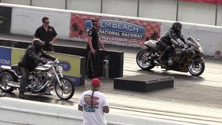 Download Hayabusa vs modded Harley Davidson - motorbikes racing Video