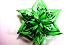 Download How to Make a 3D Paper Star Xmas Ornament (DIY Tutorial) Video