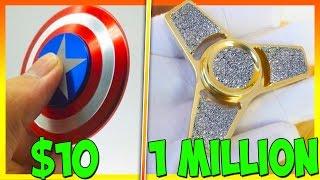 Download $10 FIDGET SPINNER VS 1 MILLION DOLLAR DIAMOND FIDGET SPINNER Video