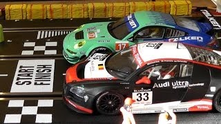 Download Audi R8 LMS vs Porsche GT3 RSR - FAST LANE Der Film - Carrera Bahn Digital Slot / D124 Video