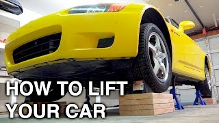Download How To Completely Lift A Car On All Four Jack Stands Video