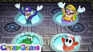 Download Mario Party 9 Garden Battle - Waluigi v Wario v Shy Guy v Yoshi Master Difficult |CRAZYGAMINGHUB Video
