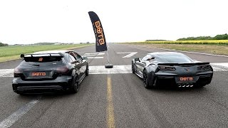 Download DRAG RACE! CORVETTE GRAND SPORT VS MERCEDES A45 AMG!! Video