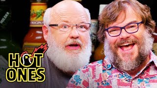 Download Tenacious D Gets Rocked By Spicy Wings | Hot Ones Video