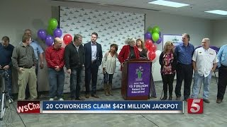 Download 20 Tennessee Co-Workers Claim $421M Jackpot Video