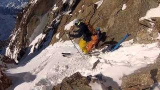 Download Skiing a Steep Line in Chamonix Video