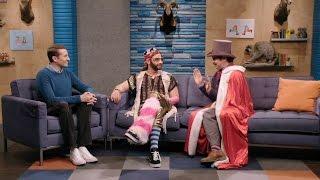 Download Lord Andrew Lloyd Webber Wears A Purple Top Hat & Fabrice Fabrice Wears One Pink Fur Leg Warmer Video