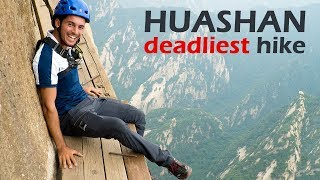 Download Deadliest Hiking Trail in the World   Huashan Mountain Video