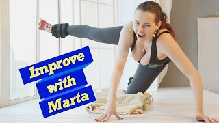 Download Slow swing straight leg to the shoulder on the ground - Improve With Marta Video