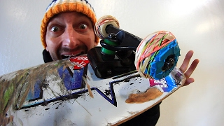 Download RUBBER BAND SKATEBOARD WHEELS | YOU MAKE IT WE SKATE IT EP 87 Video