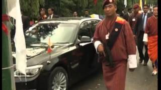 Download Bhutan welcomes Indian Prime Minister Modi with traditional 'Chibdrel' procession Video