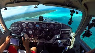 Download Tropical Island Flying! Beautiful + Painful - Smashed my head in strong turbulence Video