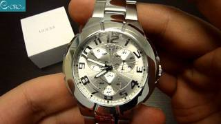 Download GUESS Stainless Steel Mens Watch I90199G1 - E-oro.gr Video