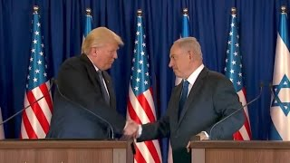 Download TRUMP GIVES REMARKS WITH PRIME MINISTER NETANYAHU Video