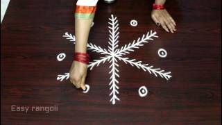 Download simple muggulu designs with 5x3 dots || kolam designs || easy rangoli designs Video