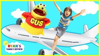 Download Family Fun Vacation with Ryan's Family Review! Ryan on the Airplane with GUS going to California Video