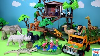 Download Playmobil Animals Treehouse Playset Build and Play Toys For Kids Video