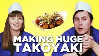 Download Making HUGE Takoyaki (Octopus Balls) in the Tokyo Creative Office! [Feat. Abroad in Japan] Video