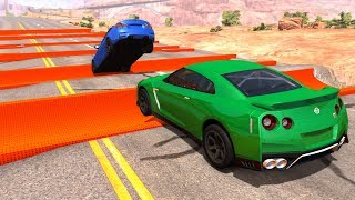 Download Reverse Speed Bumps Against Cars #2 - BeamNG Drive Video