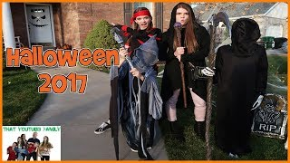 Download Halloween 2017 COSTUMES, HOUSE DECORATIONS And CANDY HAUL!! / That YouTub3 Family Video