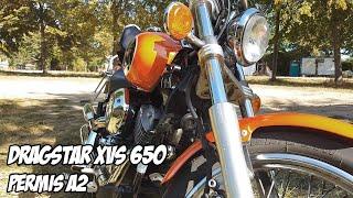 Download TEST 14 : Yamaha XVS 650 DRAGSTAR (CUSTOM A2) - 0 à 100km/h Video