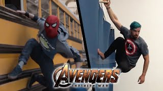 Download Stunts from Avengers Infinity War In Real Life (Marvel, Parkour) Video