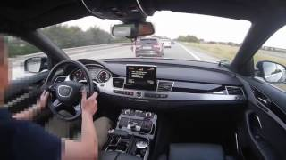 Download Audi A8L 4.2TDI V8 vs Audi S3 2.0TFSI Onboard POV Real Life Story On German Autobahn Video