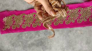 Download How To Attach Fabric Inside Net Lace And How to Design your saree. Video