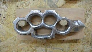 Download BUILD VIDEO: Casting aluminum KNUCKLES with a SKULL CRACKER Video