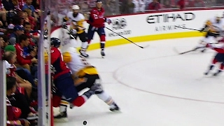 Download Cole brings down Wilson with vicious hit against boards Video