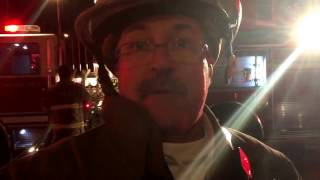 Download York City Fire/Rescue Services Chief David Michaels talks about fire above vacuum cleaner shop Video