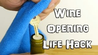 Download How to Open Wine in an Emergency with a Key - Life Hack Video