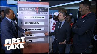 Download Michael Jordan rounds out Stephen A's all-time All-Star list l First Take Video