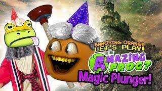 Download Amazing Frog: MAGIC PLUNGER! [Annoying Orange Plays] Video