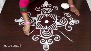 Download cute beginners padi rangoli kolam || easy margazhi kolam || simple Dhanurmasam muggulu Video