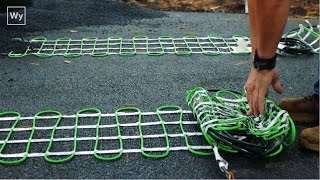 Download Electric Snow Melting system installed in an Asphalt Driveway Video