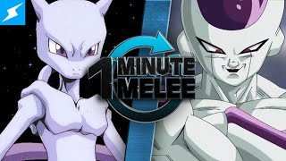 Download One Minute Melee - Mewtwo vs Frieza (Pokemon vs Dragon Ball Z) Video