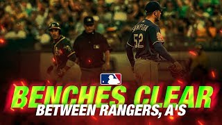 Download Benches clear in Oakland Video