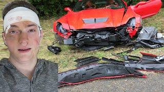 Download CRASHED MY DADS CORVETTE Z06 PRANK - SUPERCAR - CAR CRASH PRANK (PRANKS) Video