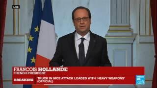 Download Nice attack - French President François Hollande addresses nation: ″France is horrified″ Video