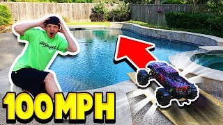 Download 100MPH RC CAR vs MY POOL! Video
