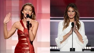 Download Gigi Hadid APOLOGIZES for Melania Trump Impression at 2016 AMAs Video
