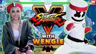 Download Wengie v. Marshmello 1v1 Street Fighter V Challenge | Gaming with Marshmello Video