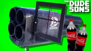 Download PROPANE + COKE ROCKET LAUNCHER EXPERIMENT ! - The Dudesons Video