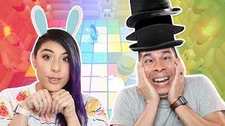 Download BUNNY vs HAT STACKER - Party Panic Rematch - Husband vs Wife Video